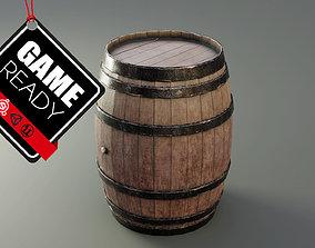 Medieval Wine Barrel 3D model