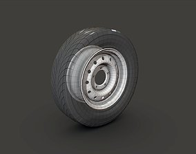 3D model low-poly Russian Tire Niva