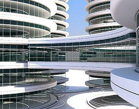3D model Futuristic Building 101