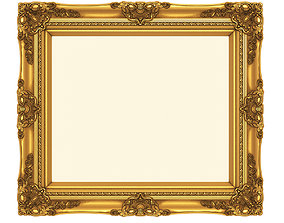 3D printable model Frame picture gold v1 house