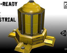 Game-Ready Scifi Industrial Water Tank 3D model