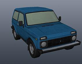 3D asset VR / AR ready Lada Niva 4x4