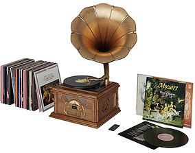 Classic Gramophone BLENDER 3D Model Cycles