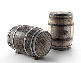 Wooden Barrel 3D large