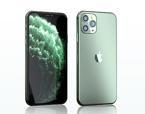 3D iPhone 11 Pro Max midnight green