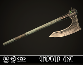 3D asset Undead Axe