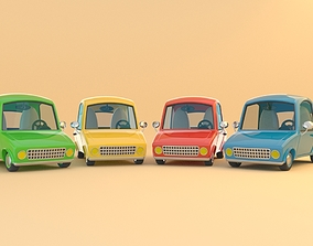 game-ready Colorful Low Poly Cartoonist Cute 3D Cars
