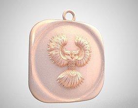 3D printable model Bird Medallion