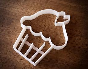 Cupcake Valentines Day CookieCutter 3D print model