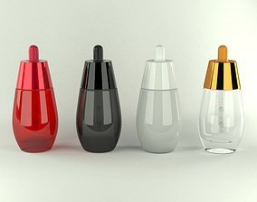 Cosmetic Bottle and Dropper 3D model
