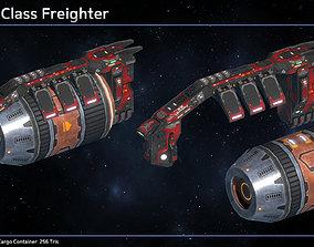 Spaceship Freighter Mars II 3D model