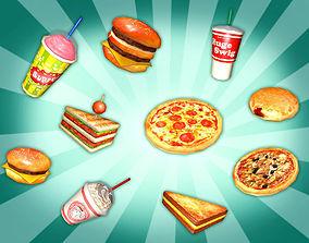 Fast Food Heaven Pack 3D model