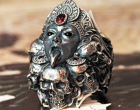 Guardia kali ring skull ring nature 3D printable model 1