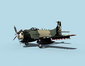 3D model Douglas A-1H Skyraider V14 USAF