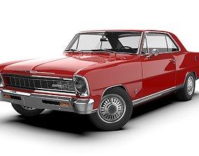Chevrolet Nova SS 1966 3D asset game-ready