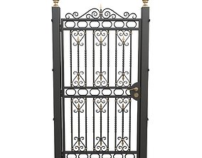 Wrought iron gate 03 3D