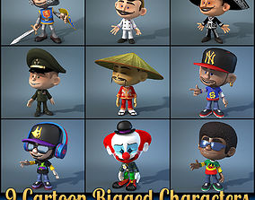 3D model 9 Cartoon Characters