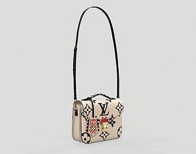 3D asset Louis Vuitton Crafty Pochette Metis Bag Cream