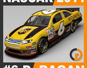 3D model Nascar 2011 Car - David Ragan Ford Fusion 6