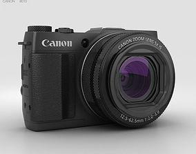 lens 3D model Canon PowerShot G1 X Mark II