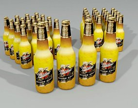 3D model Miller Beer Bottle Lowpoly