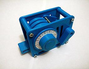 3D print model Combination Lock