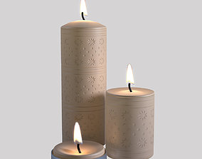 Candles 3D architectural