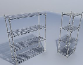 Wire Rack Shelves 3D model game-ready