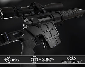 3D asset DVL-10 M2 URBANA and March Tactical 3-24x42 FFP
