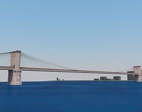 3D Brooklyn Bridge sea