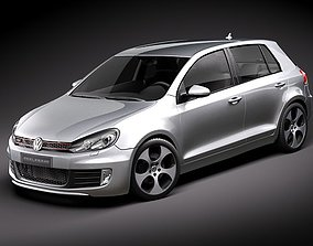 3D model Volkswagen Golf 6 GTI