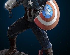 Worthy Captain America 3D print model