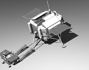 3D printable model Chinese Jade Coney Lunar Rover System