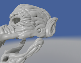 3D printable model Werewolf Mask with prototype 2