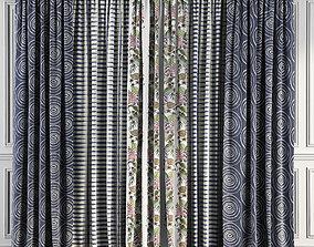 curtains 3D model Curtain Set 66