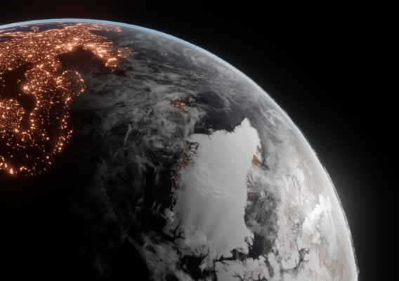 Planet Earth Render