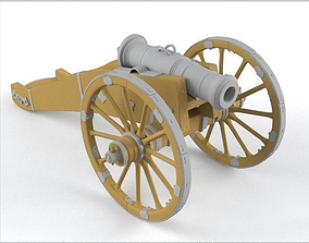 3D model Cannon weapon