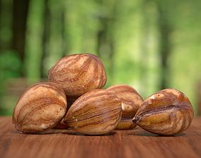 Hazelnut kernel Photoscan 3D model game-ready