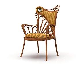 Art Nouveau Style Chair 3D model