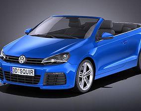 3D model Volkswagen Golf R Convertible 2014 VRAY