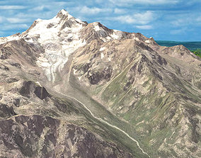 Mountain landscape earth 3D model