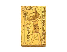 ancient 3D printable model Anubis