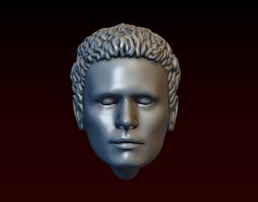 Male head 30 Stylish man with a haircut 3D print model