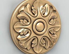 3D model Round rosette 012