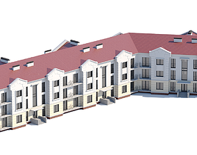 3D model Residential city building architecture