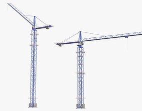 Tower Crane Modular - Blue 3D asset