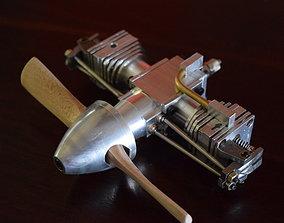 3D Boxer Air model engine