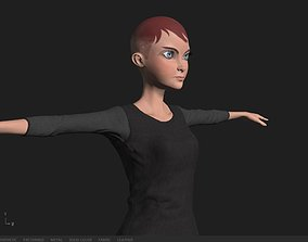 fashion 3D asset rigged low-poly Character