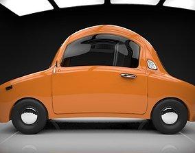 3D model low-poly funny cartoon car