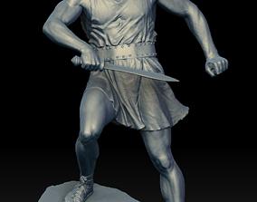 war 3D Male Warrior Statue
